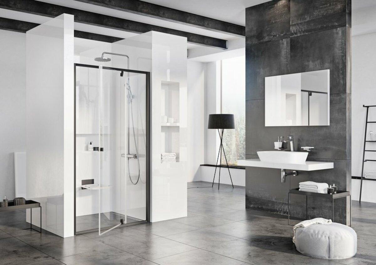 Sprchové dvere 110x190 cm Ravak Pivot čierna 03GD0300Z1