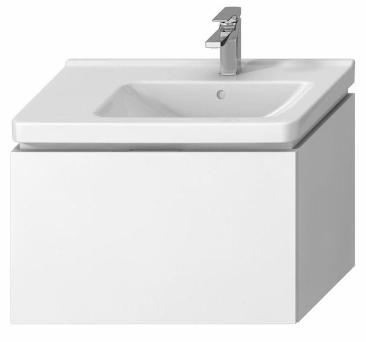 Kúpeľňová skrinka pod umývadlo Jika Cubito 74x42,6x48 cm biela H40J4253015001