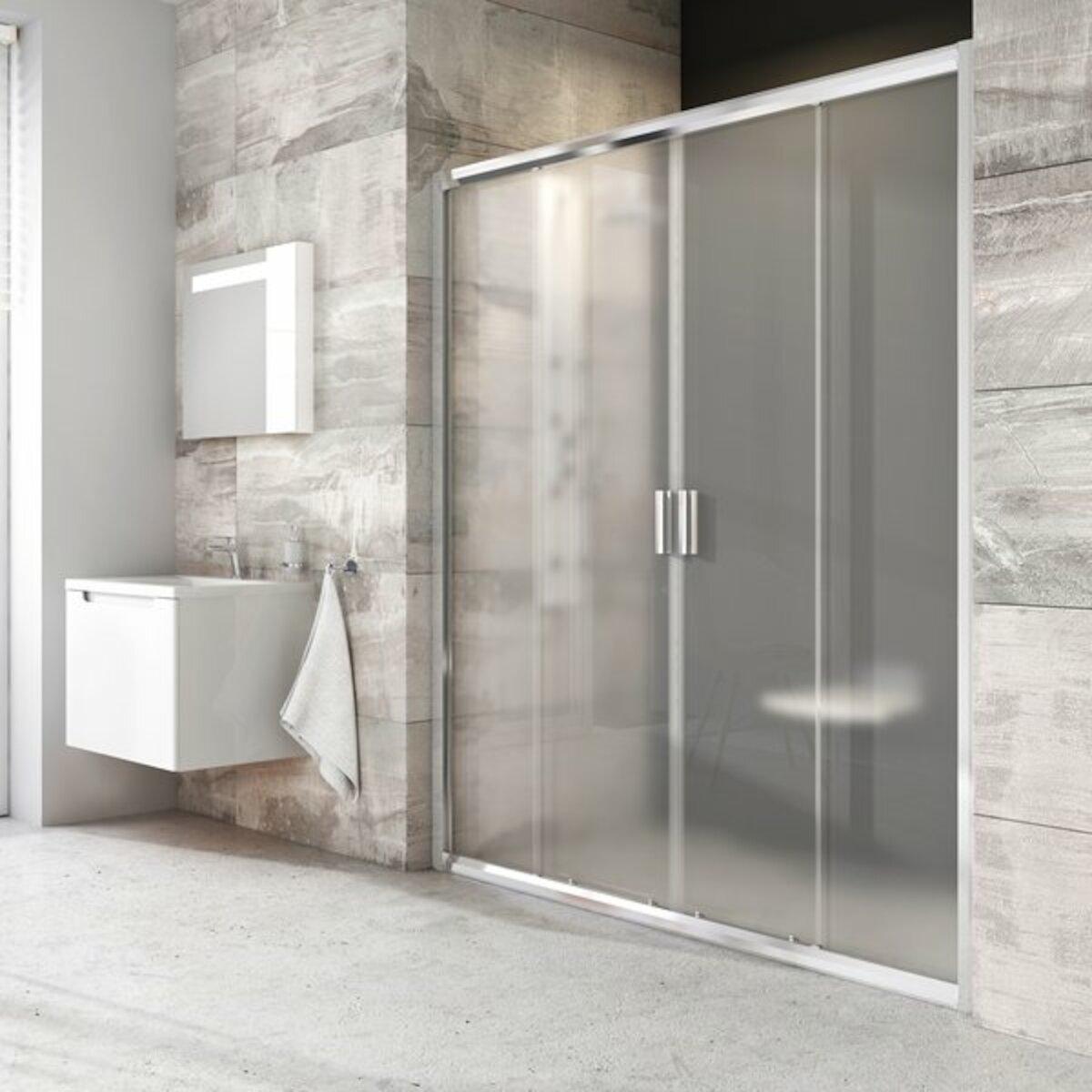 Sprchové dvere 190x190 cm Ravak Blix biela 0YVL0100Z1