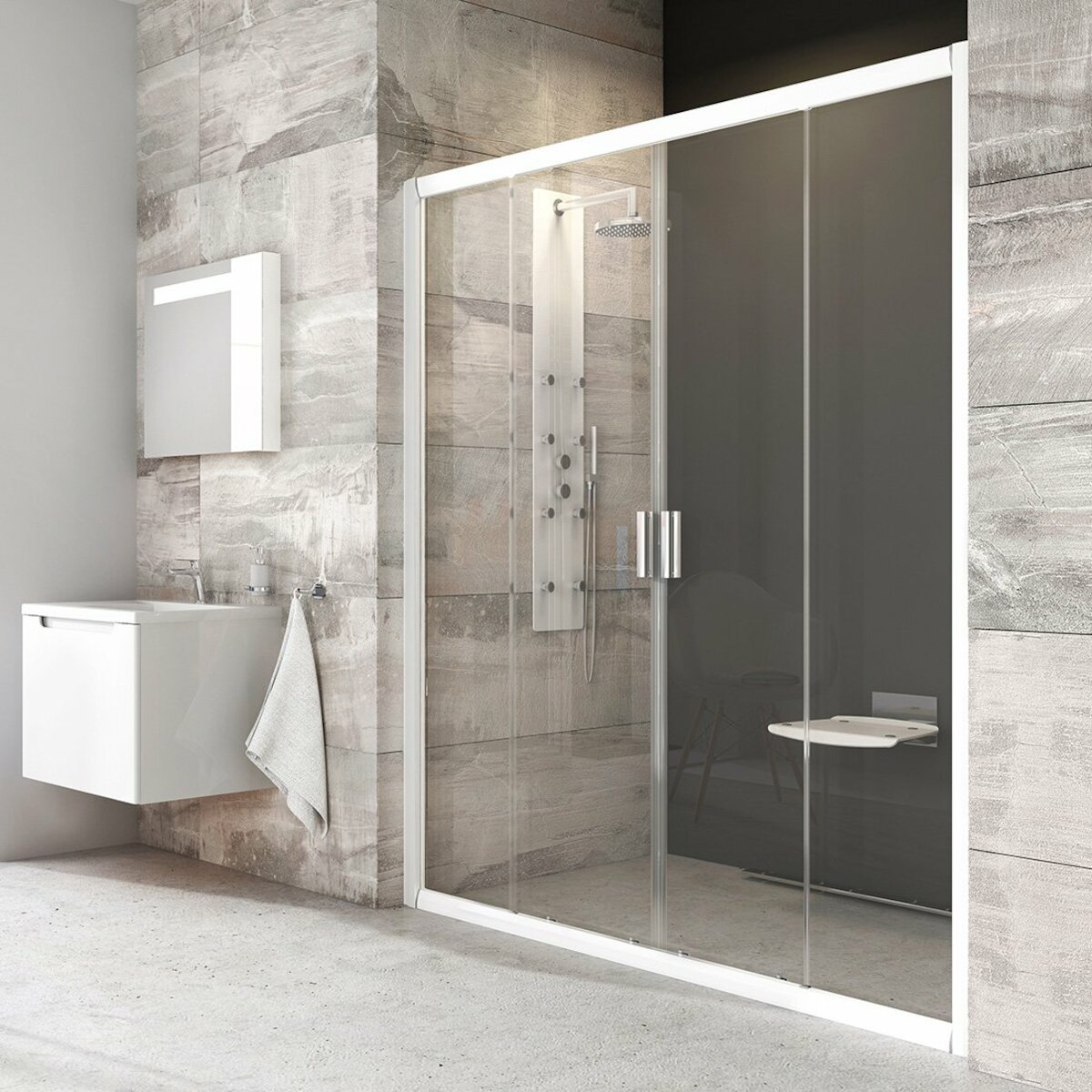 Sprchové dvere 170x190 cm Ravak Blix biela 0YVV0100Z1