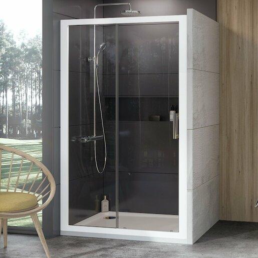 Sprchový kút 110x190 cm Ravak 10° biela 0ZVD0100Z1
