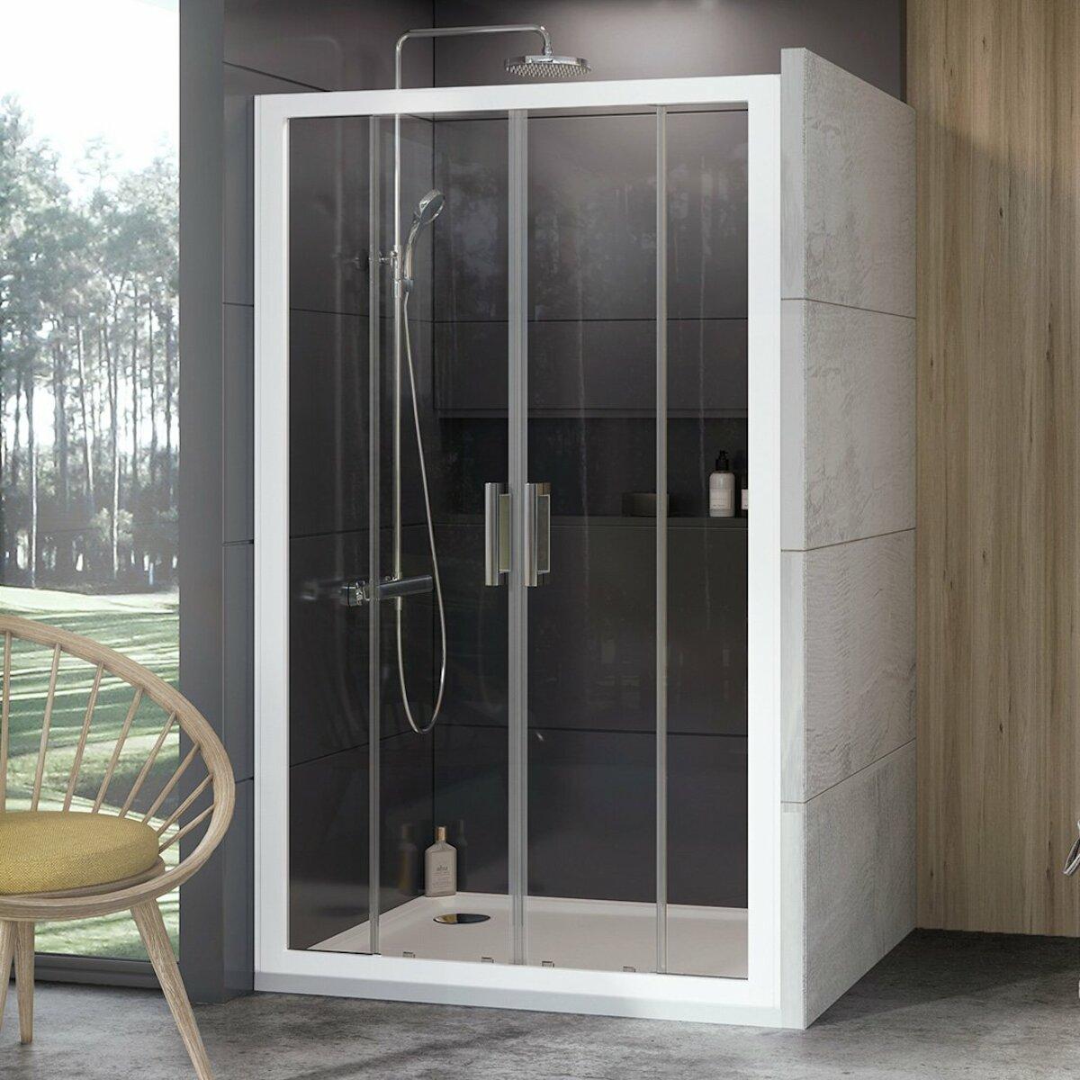 Sprchové dvere 120x190 cm Ravak 10° biela 0ZKG0100Z1