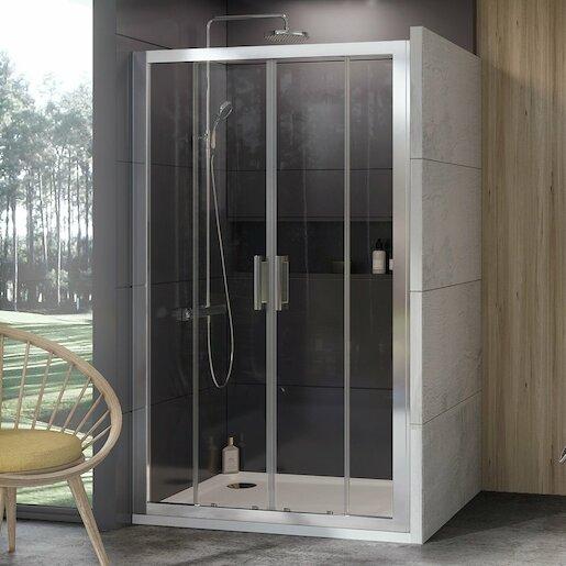 Sprchové dvere 120x190 cm Ravak 10° chróm matný 0ZKG0U00Z1