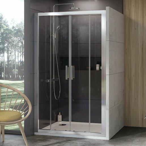 Sprchové dvere 130x190 cm Ravak 10° chróm matný 0ZKJ0U00Z1
