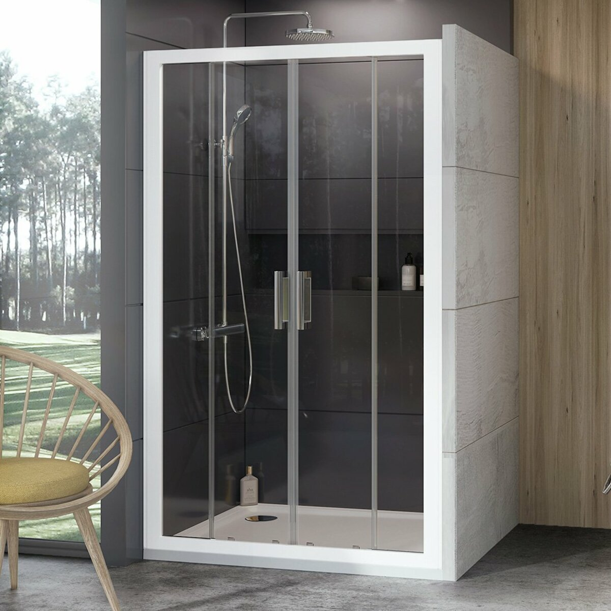 Sprchové dvere 140x190 cm Ravak 10° biela 0ZKM0100Z1