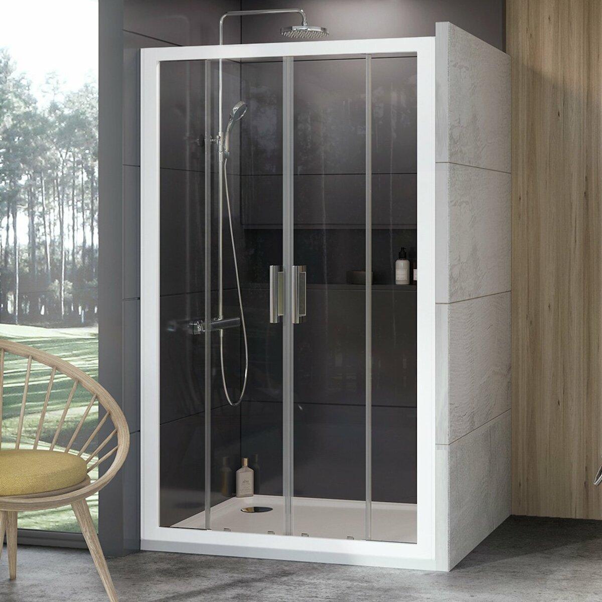 Sprchové dvere 170x190 cm Ravak 10° biela 0ZKV0100Z1