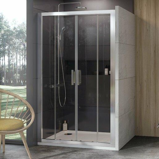 Sprchové dvere 180x190 cm Ravak 10° chróm matný 0ZKY0U00Z1