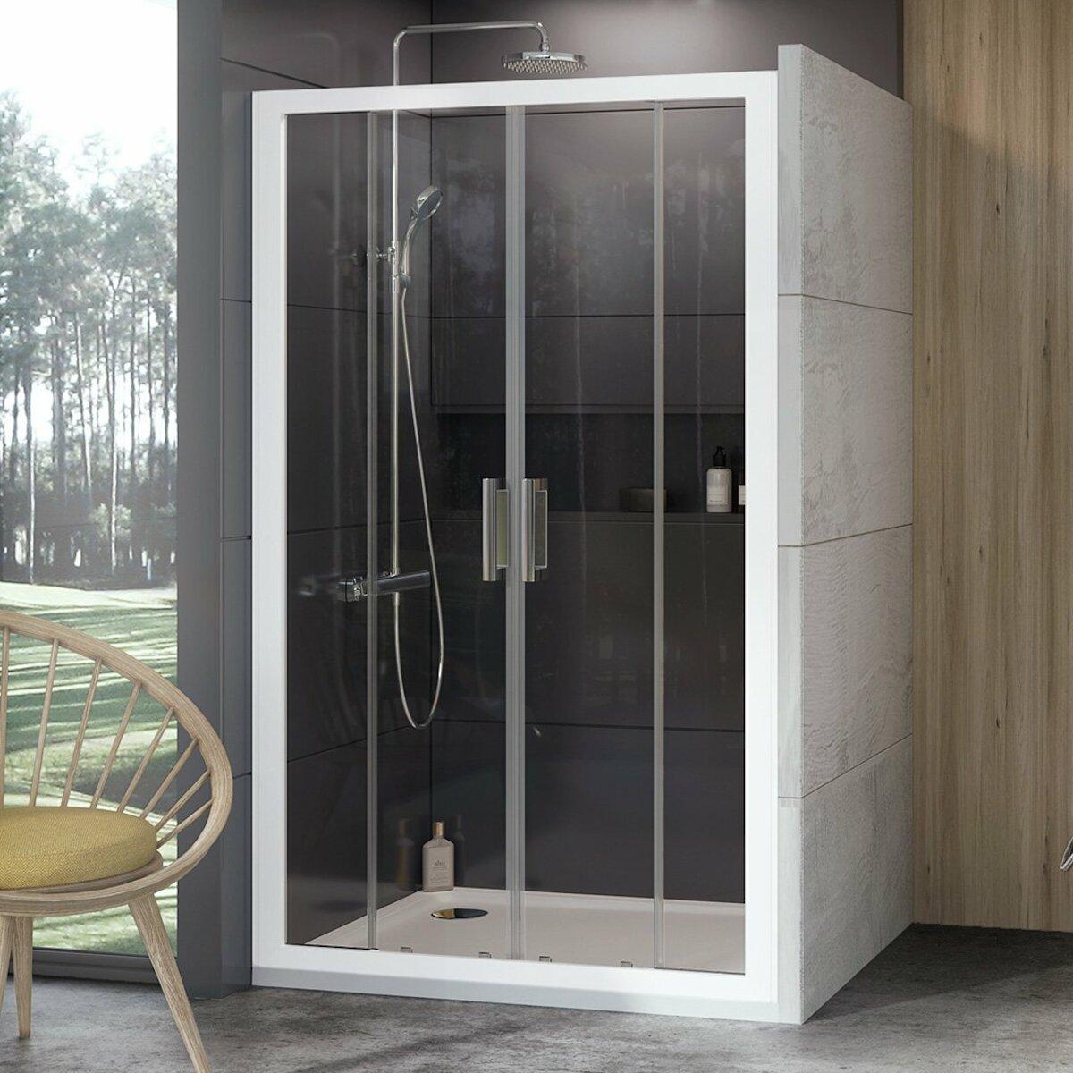 Sprchové dvere 110x190 cm Ravak 10° biela 0ZKL0100Z1
