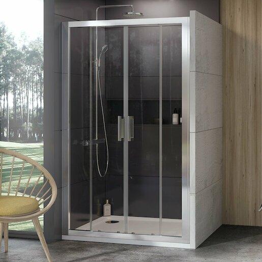 Sprchové dvere 190x190 cm Ravak 10° chróm matný 0ZKL0U00Z1