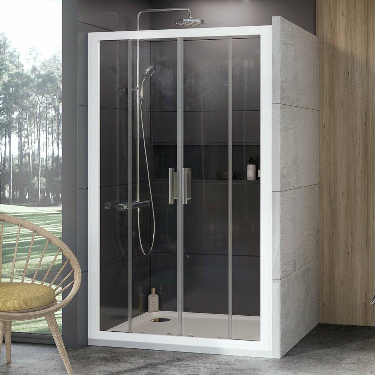 Sprchové dvere 200x190 cm Ravak 10° biela 0ZKK0100Z1