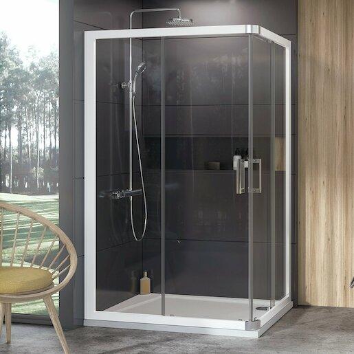 Sprchový kút 100x190 cm Ravak 10° biela 1ZJA0100Z1