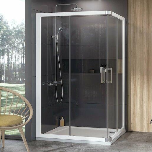 Sprchový kút 110x190 cm Ravak 10° biela 1ZJD0100Z1