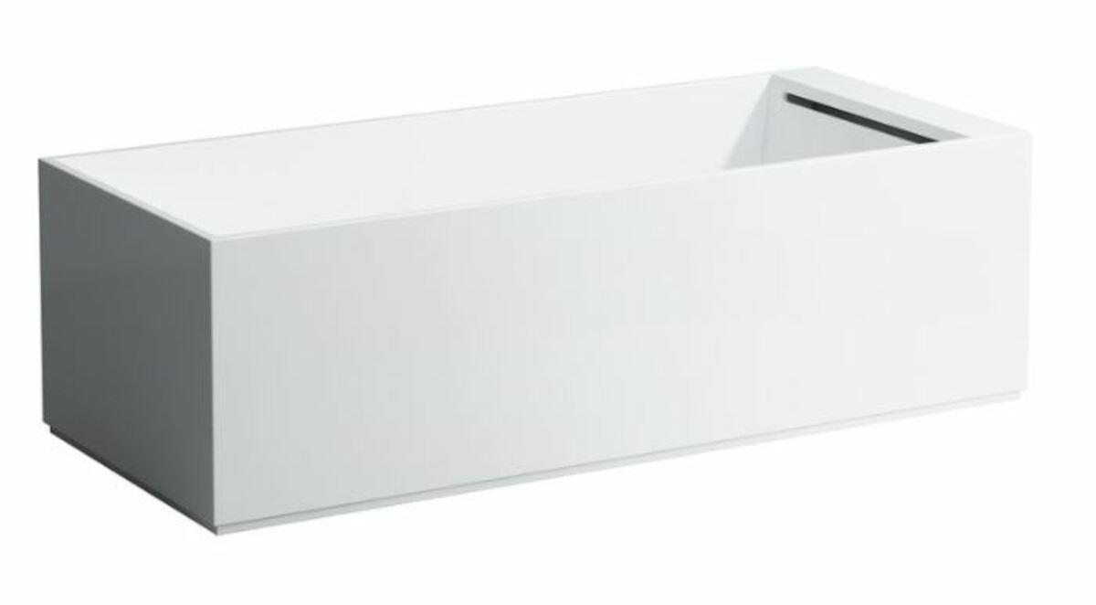 Rohová vaňa Laufen Kartell By Laufen 176x76 cm liaty mramor ľavá H2243310006161