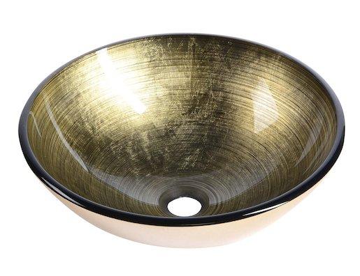 Umývadlo na dosku Sapho Fianna 42x42 cm bronz bez otvoru pre batériu, bez prepadu 2501-21