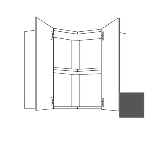 Kuchynská skrinka s dvierkami horná Naturel Terry24 60x65x60 cm bridlicová šedá 334.WE6001L