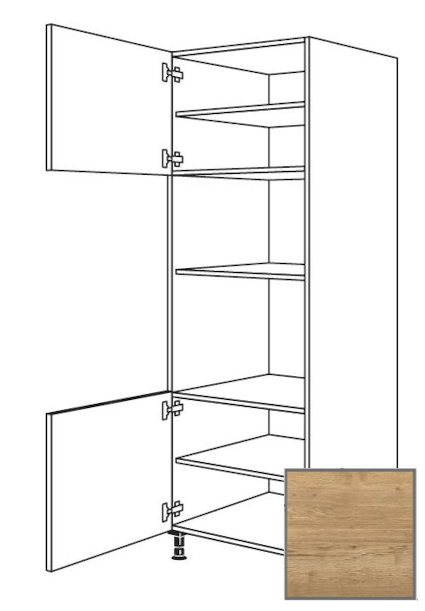 Kuchynská skrinka vysoká Naturel Sente24 pre rúru a MW 60 cm dub sierra 405.GMDK02.L