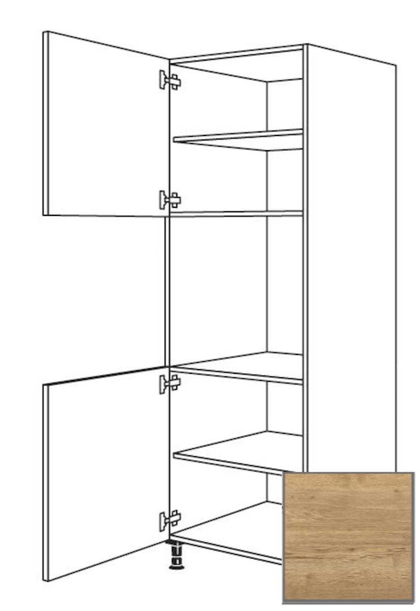 Kuchynská skrinka vysoká Naturel Sente24 pre rúru 60 cm dub sierra 405.GO02.L