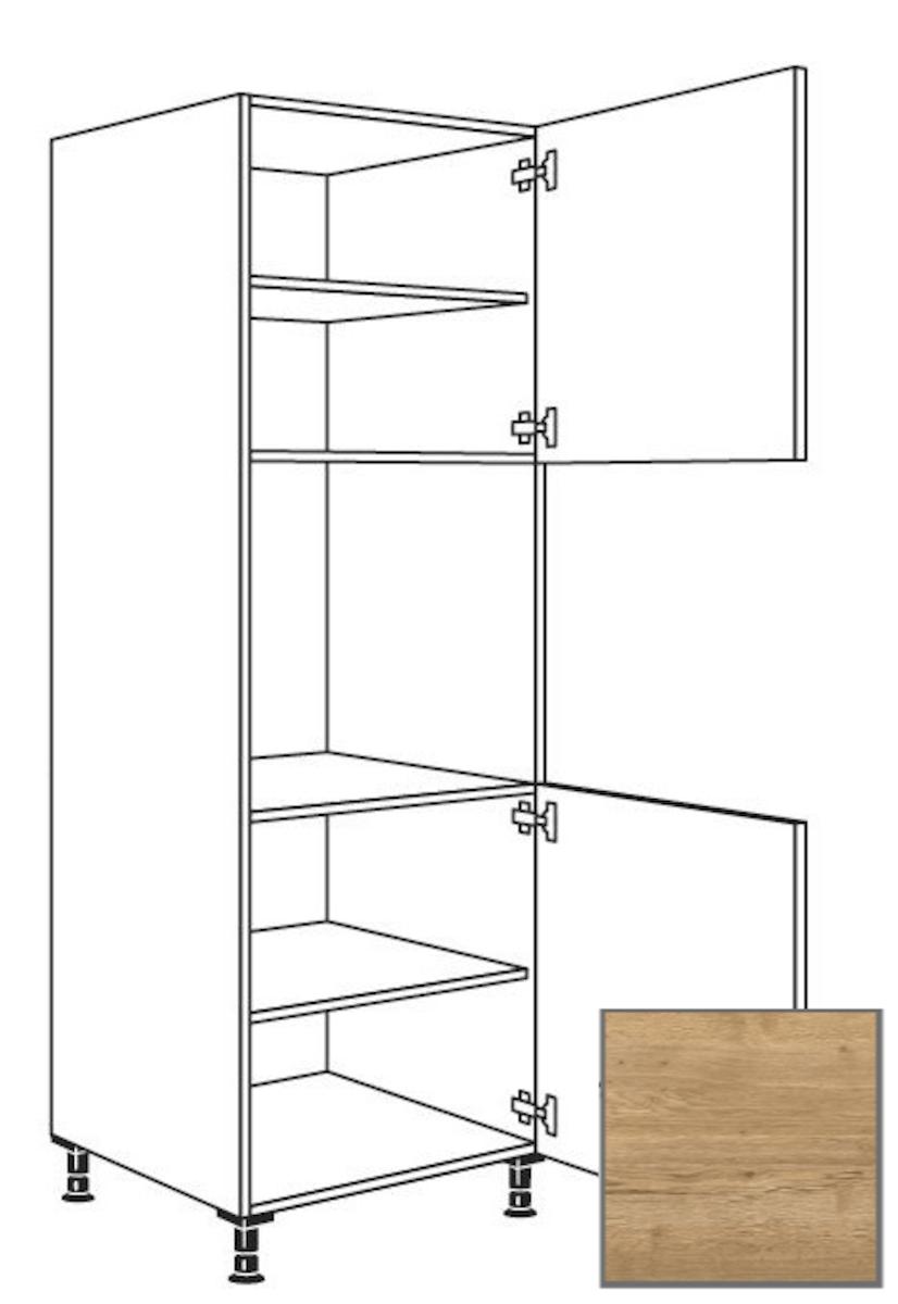 Kuchynská skrinka vysoká Naturel Sente24 pre rúru 60 cm dub sierra 405.GO02.R