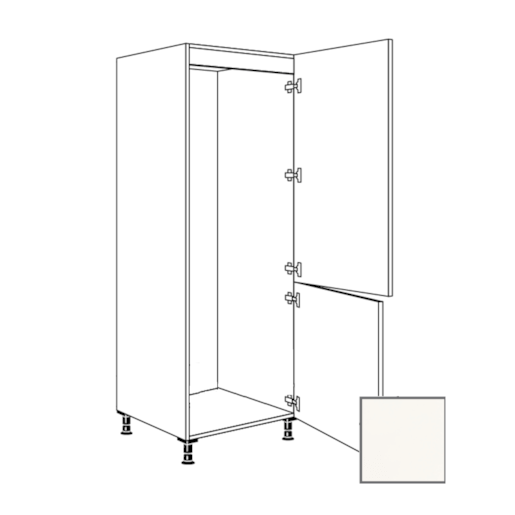 Kuchynská skrinka pre chladničku vysoká Naturel Erika24 60x193x56 cm biela lesk 450.GD17801B.R
