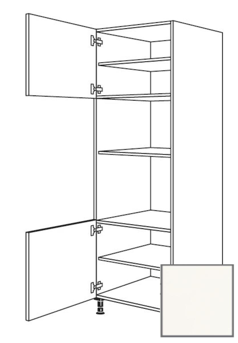 Kuchynská skrinka vysoká Naturel Erika24 pre rúru a mikrovlnnú rúru 60x214,7x56 cm bílá 450.GMDK1.L