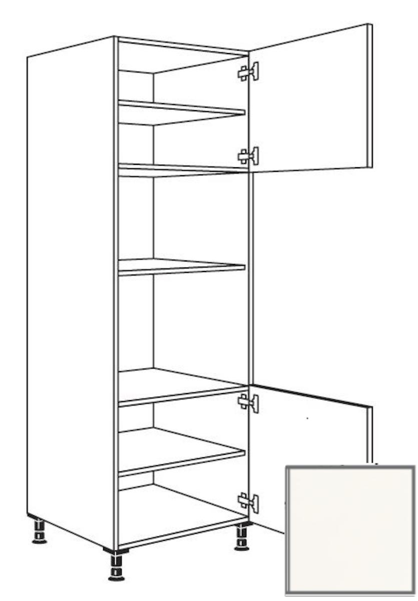 Kuchynská skrinka vysoká Naturel Erika24 pre rúru a mikrovlnnú rúru 60x214,7x56 cm bílá 450.GMDK1.R