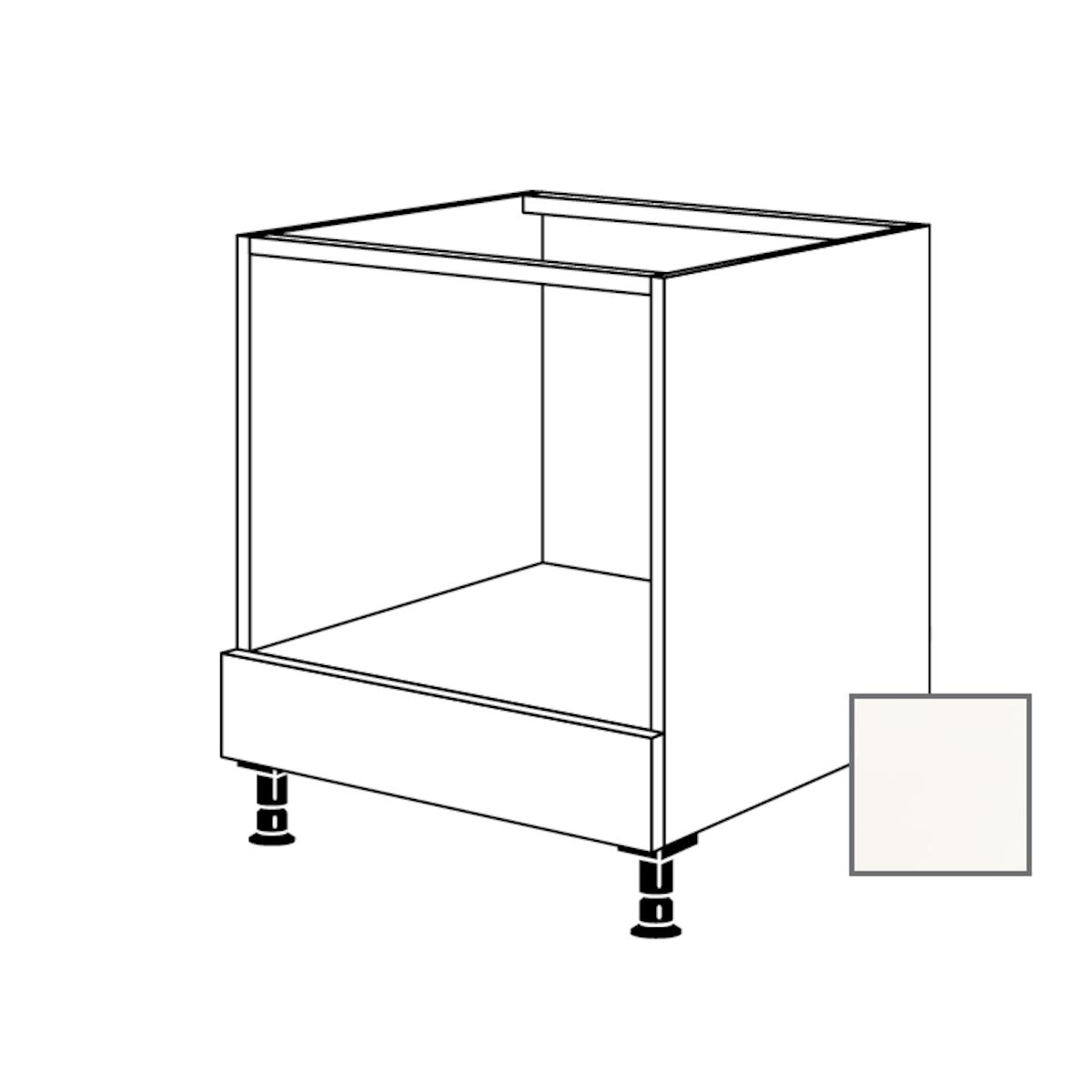 Kuchynská skrinka spodní Naturel Erika24 pre rúru 60x87x56 cm bílá lesk 450.HUB