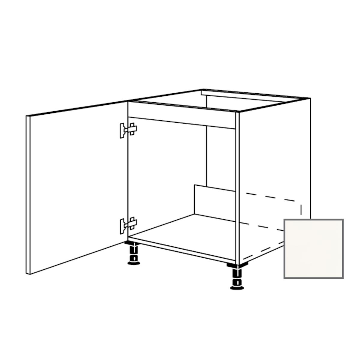 Kuchynská skrinka spodní Naturel Erika24 drezová 60x87x56 cm bílá lesk 450.SPUD60.L