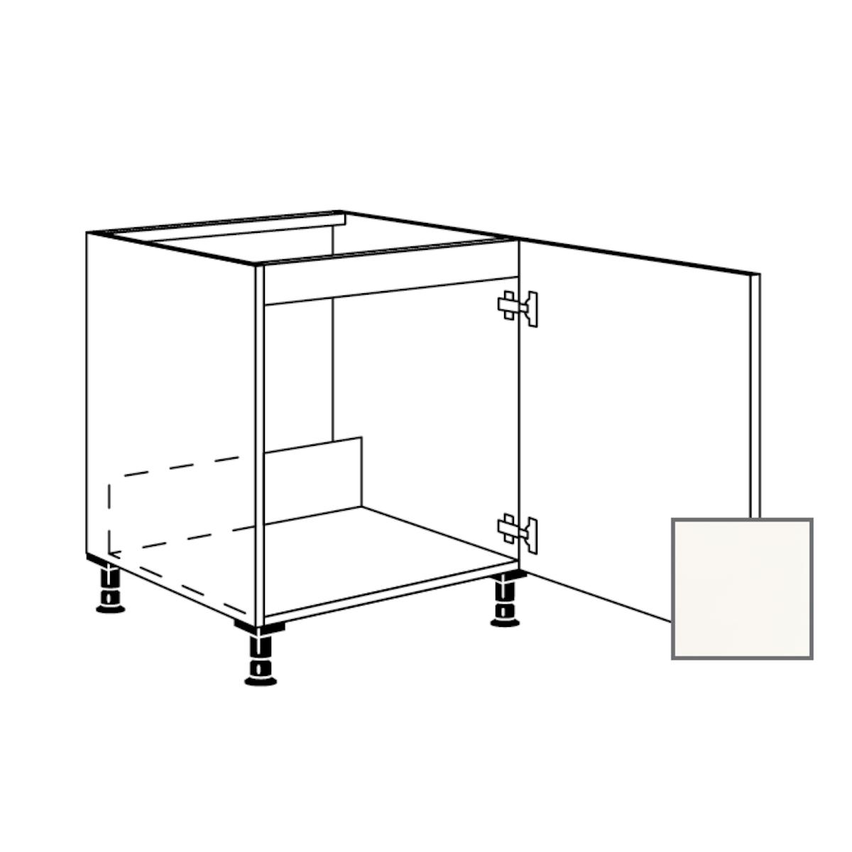 Kuchynská skrinka spodní Naturel Erika24 drezová 60x87x56 cm bílá lesk 450.SPUD60.R