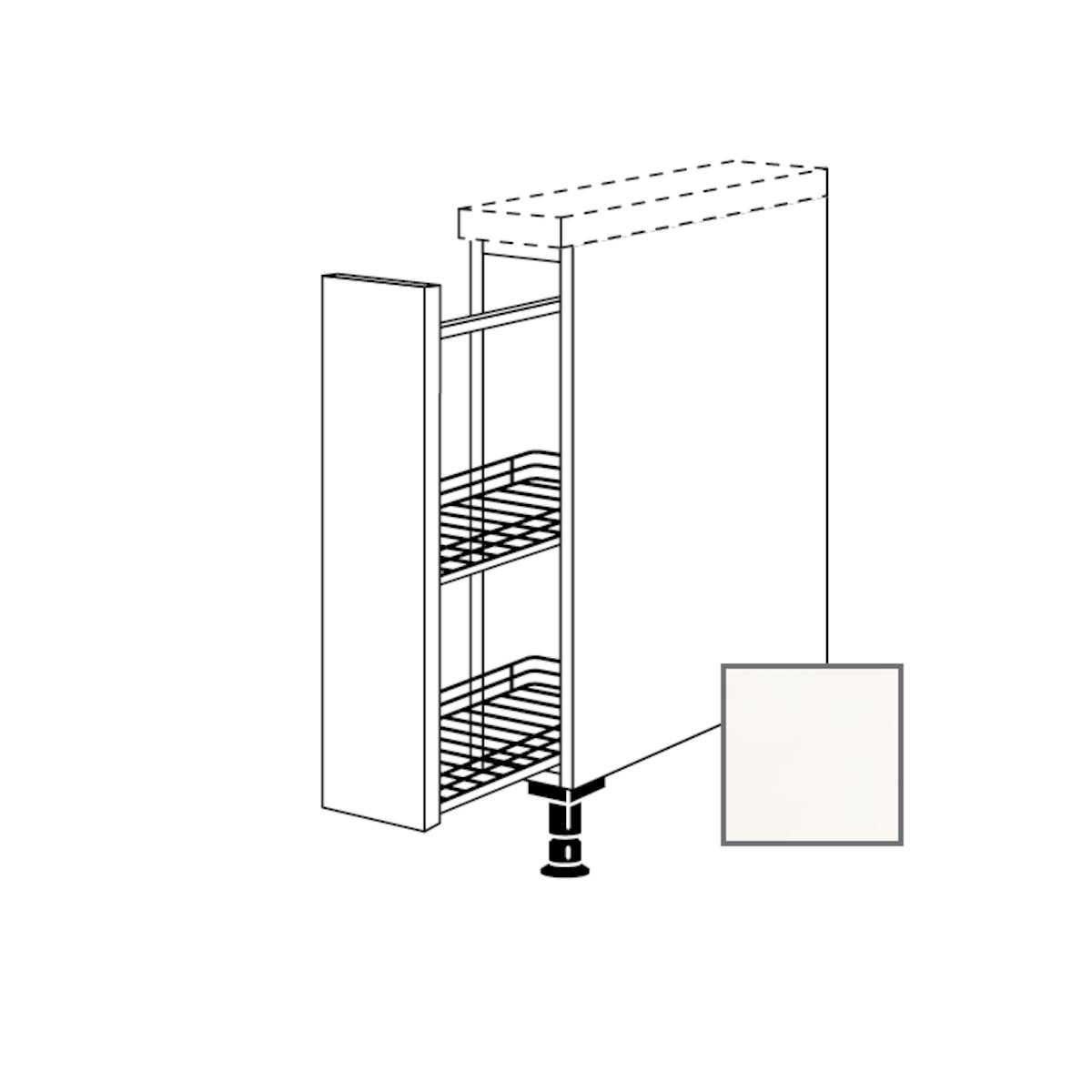 Kuchynská skrinka spodní Naturel Erika24 s výsuvným systémom 15x87x56 cm bílá lesk 450.UA15