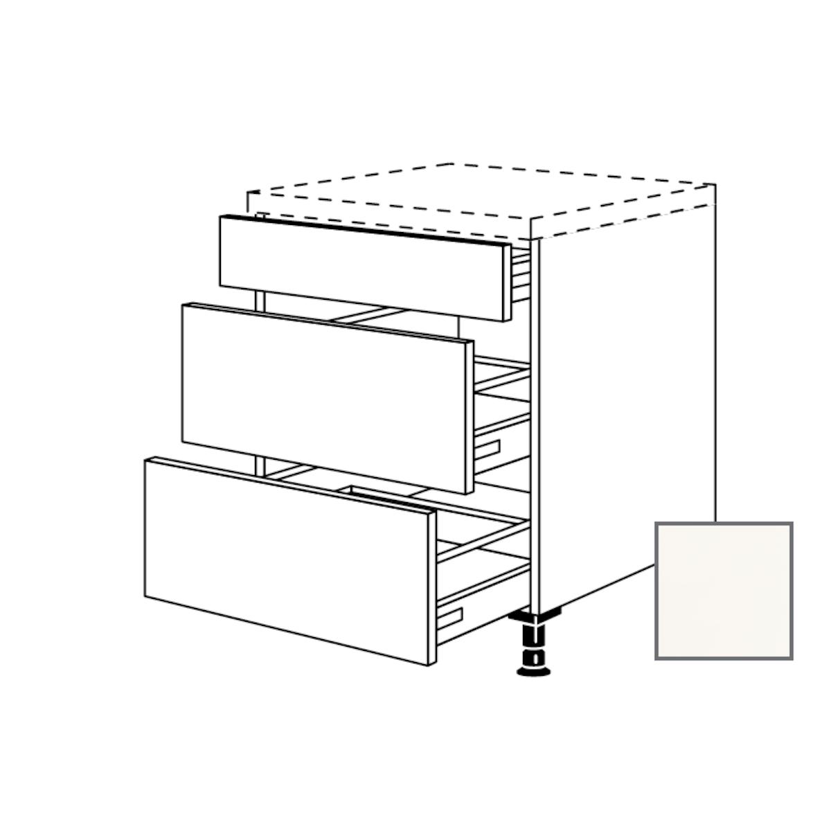 Spodní kuchyňská skříňka spodní Naturel Erika24 zásuvková 60x87x56 cm bílá lesk 450.UA60