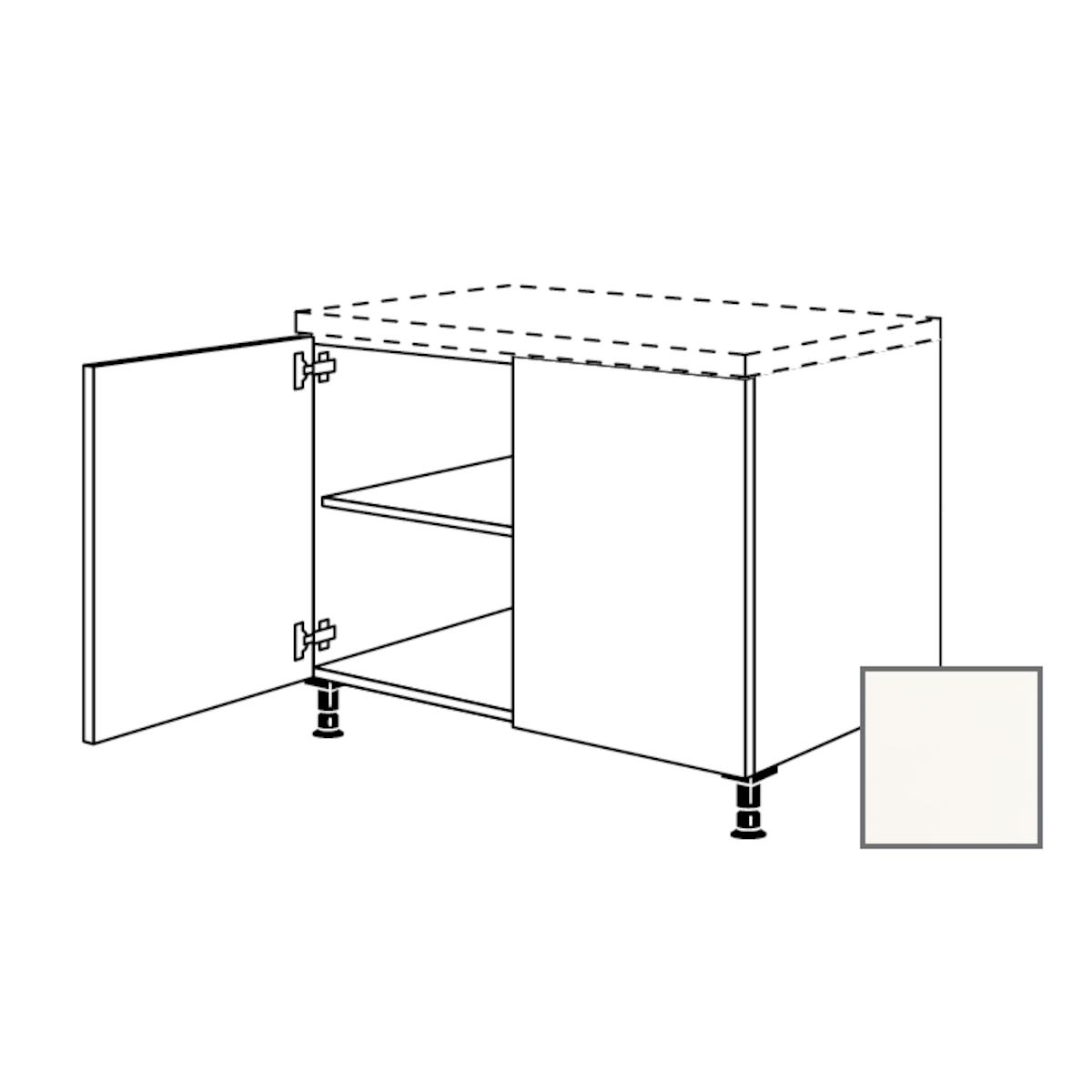 Kuchynská skrinka spodní Naturel Erika24 s dvierkami 90x87x56 cm bílá lesk 450.UD90