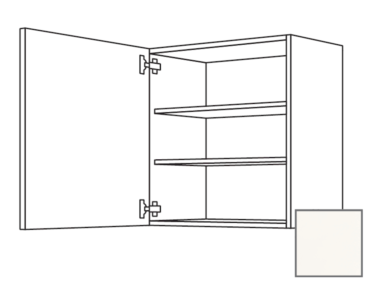 Kuchynská skrinka horní Naturel Erika24 s dvierkami 30x72x35 cm bílá lesk 450.W301.L