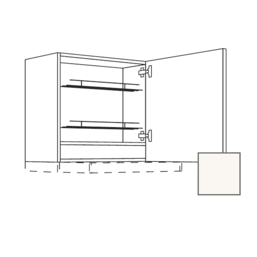 Skř.horní 60cm digestoř dv.pr,bílá lesk 450.WDAF6057R