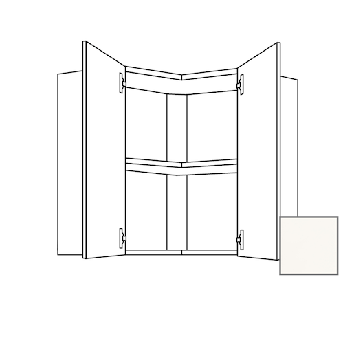 Kuchynská skrinka s dvierkami horná Naturel Erika24 60x65x60 cm biela lesk 450.WE6001L