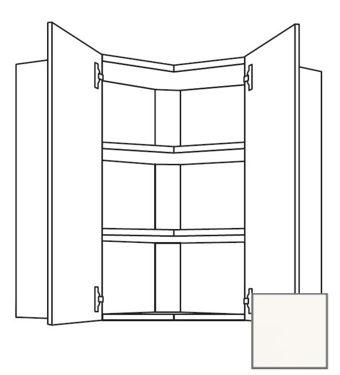 Kuchynská skrinka horní Naturel Erika24 rohová 65x72x35 cm bílá lesk 450.WE651L