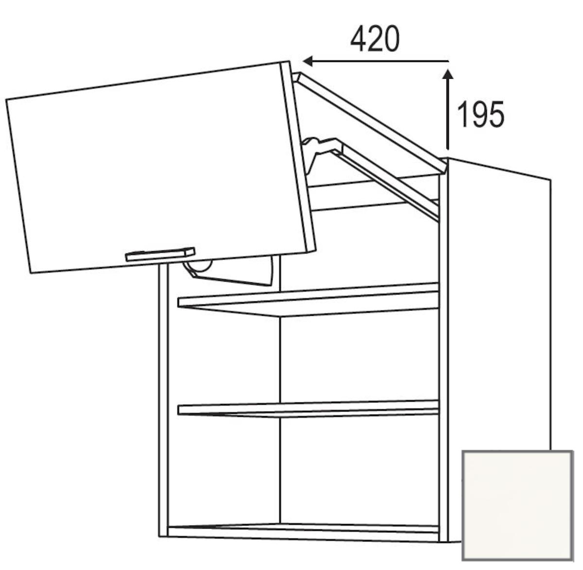 Kuchynská skrinka horní Naturel Erika24 zlamovacie 60x72x35 cm bílá lesk 450.WFL601