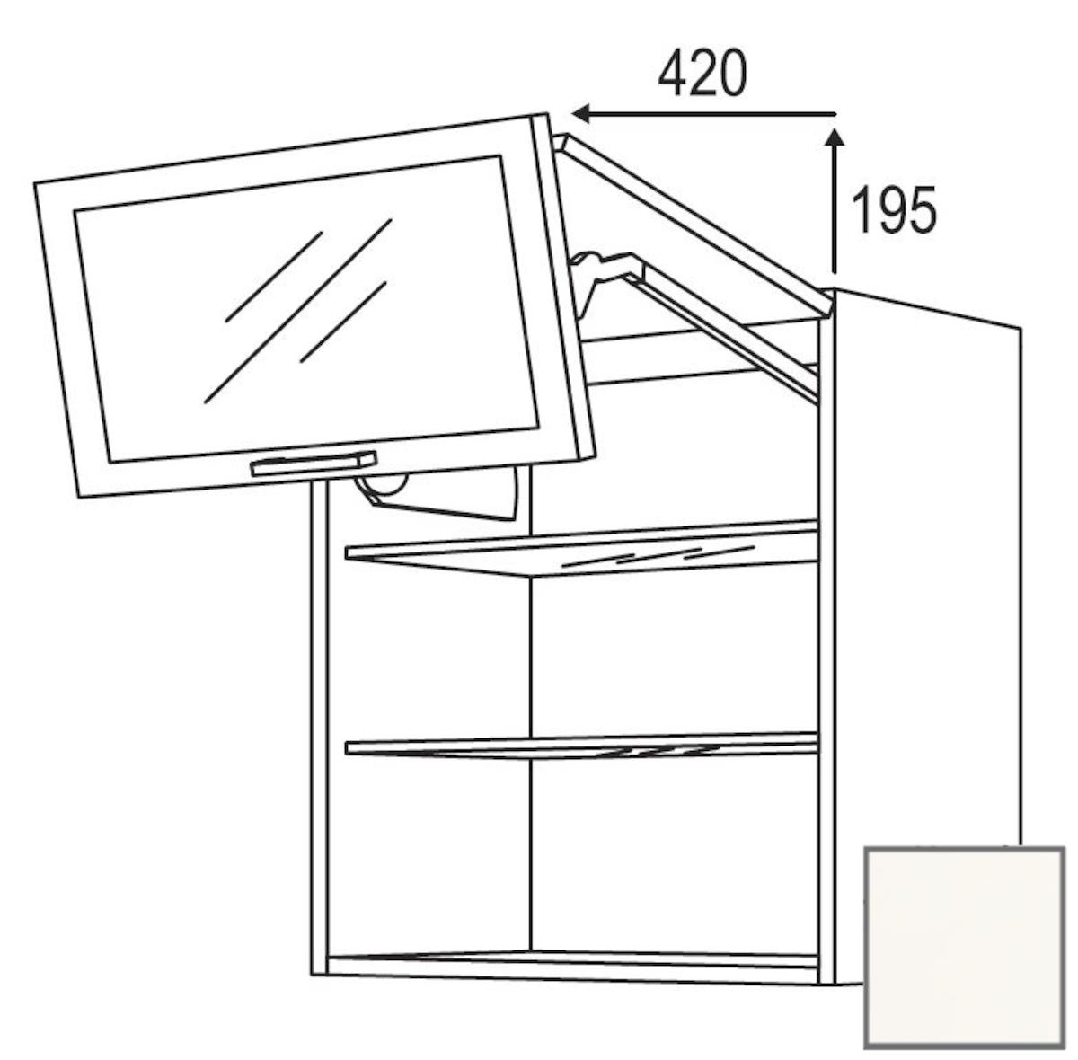 Kuchynská skrinka horní Naturel Erika24 zlamovacie 60x72x35 cm bílá lesk 450.WFLG601