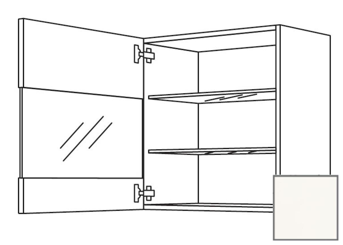 Kuchynská skrinka horní Naturel Erika24 s dvierkami 45x72x35 cm bílá lesk 450.WGLS451L