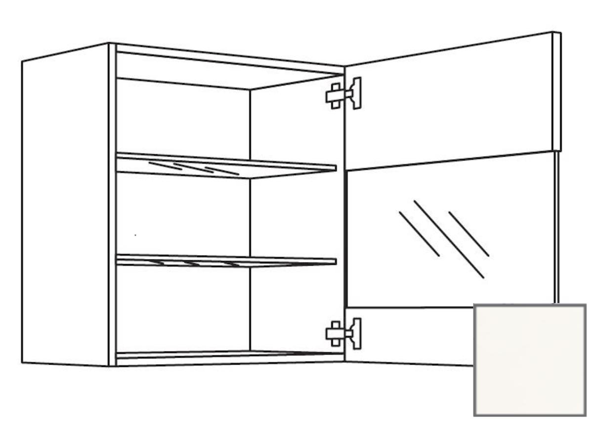 Kuchynská skrinka horní Naturel Erika24 s dvierkami 45x72x35 cm bílá lesk 450.WGLS451R