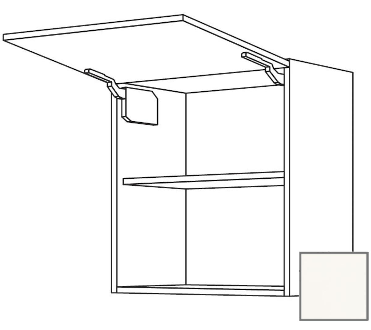 Kuchynská skrinka horní Naturel Erika24 výklopná 60x72x35 cm bílá lesk 450.WM601