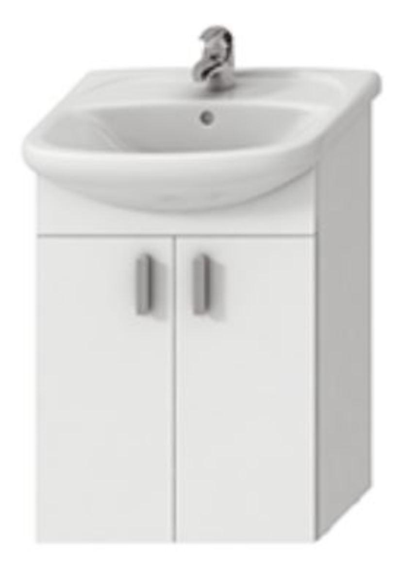 Kúpeľňová skrinka s umývadlom Jika Lyra plus 65x31x75 cm biela H4519614323001