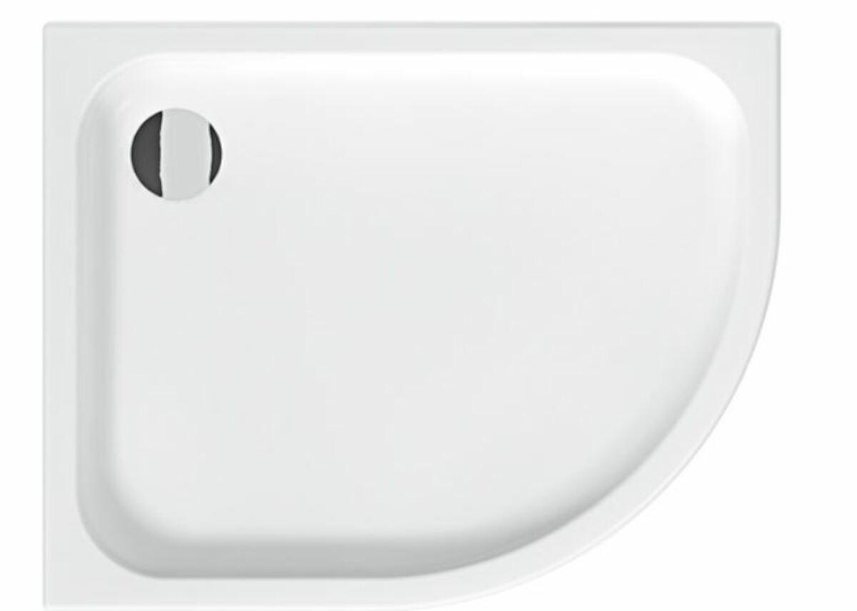 Sprchová vanička štvrťkruhová Jika Tigo 100x80 cm keramika H8522106000001