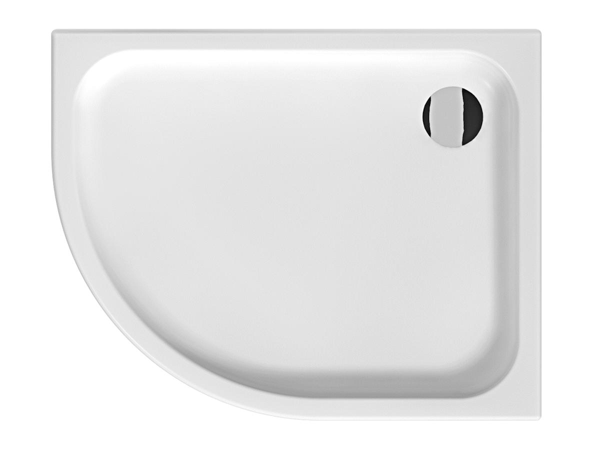 Sprchová vanička štvrťkruhová Jika Tigo 100x80 cm keramika H8522110000001