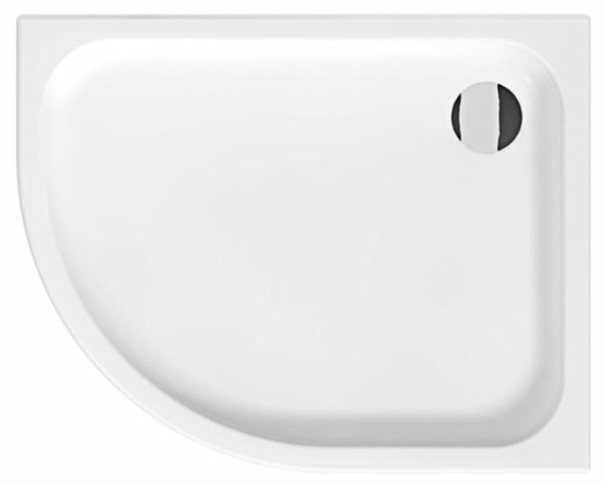 Sprchová vanička štvrťkruhová Jika Tigo 100x80 cm keramika H8522116000001
