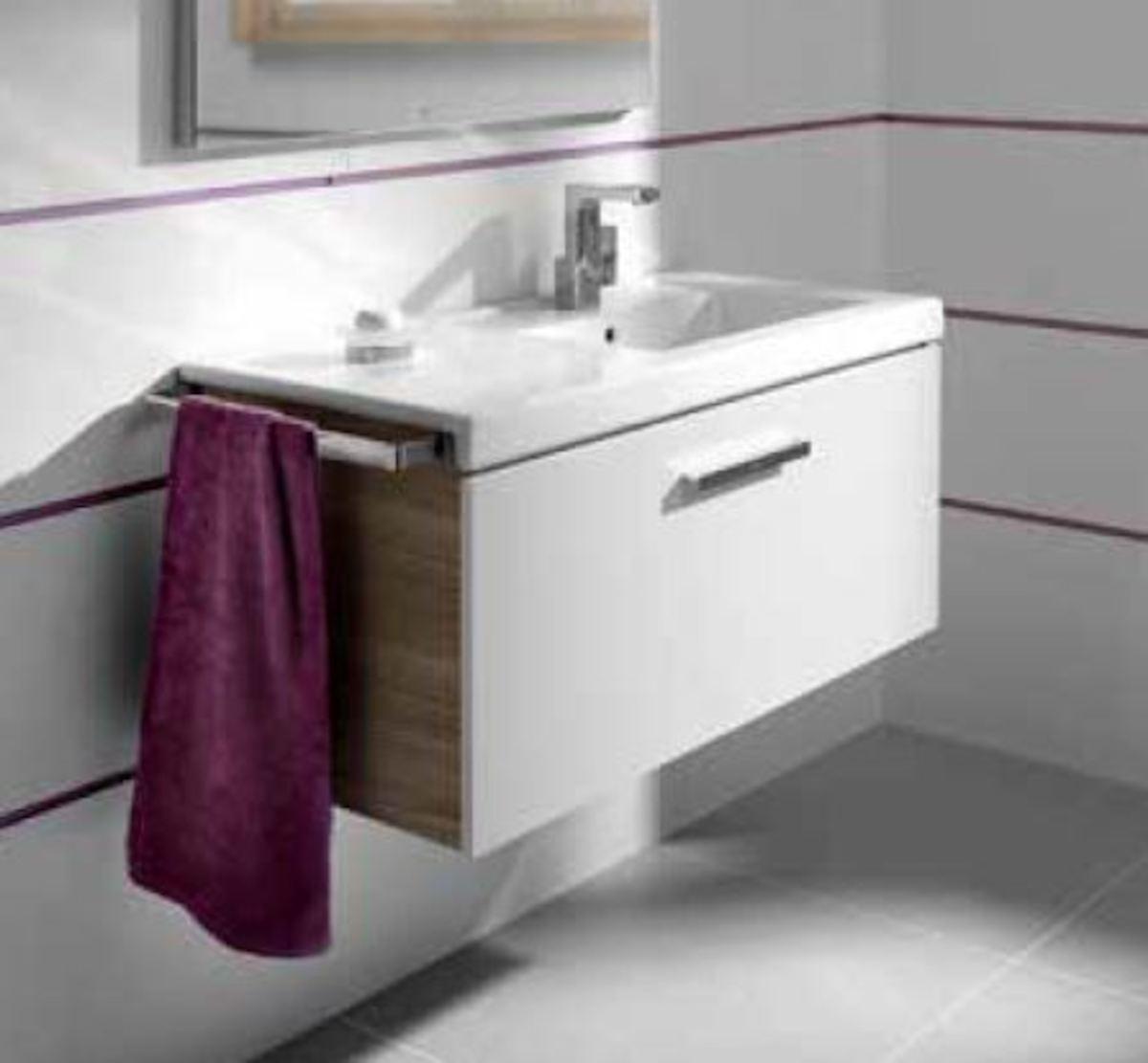 Kúpeľňová skrinka pod umývadlo Roca Prisma 89x46x42,4 cm biela A856877806