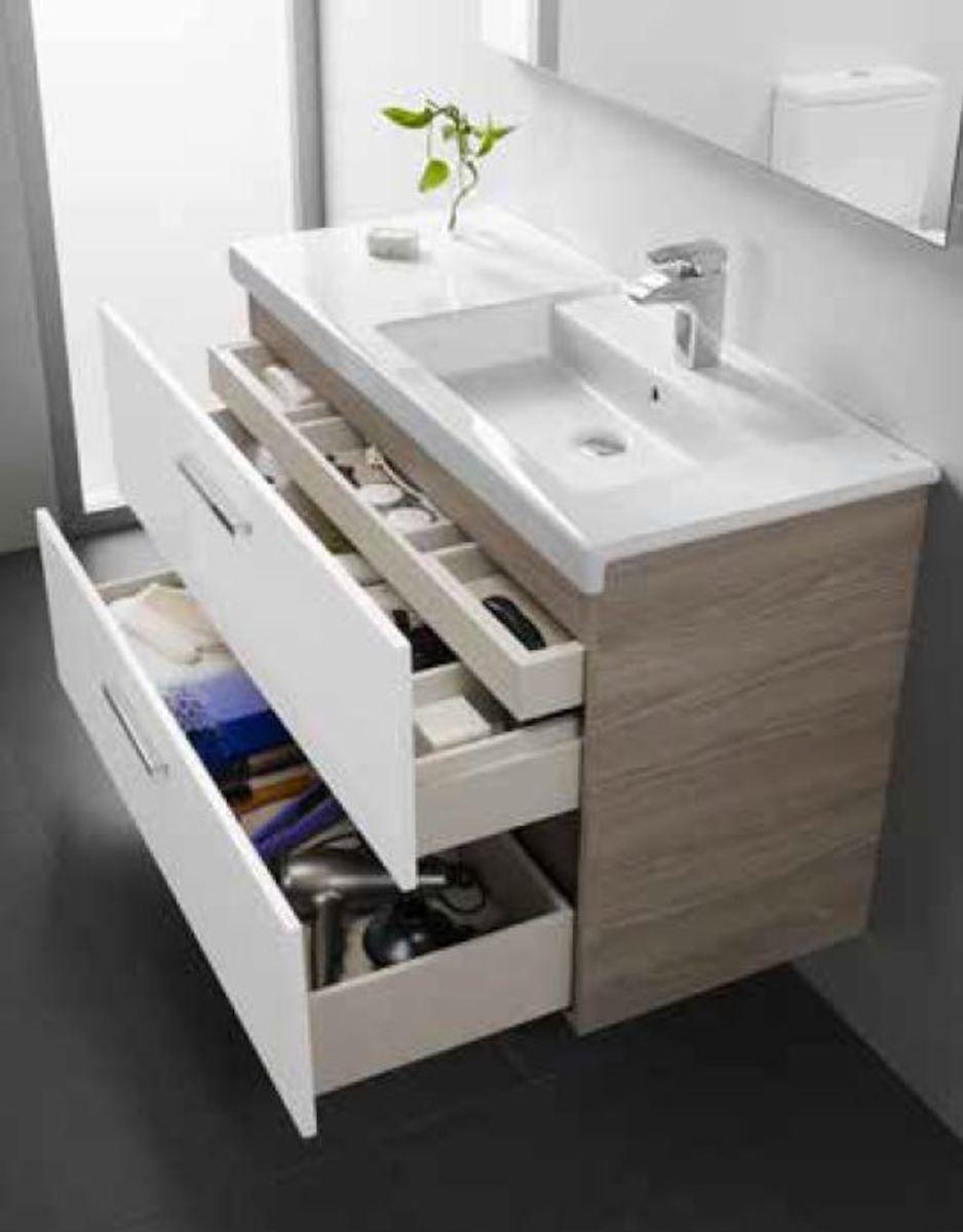 Kúpeľňová skrinka pod umývadlo Roca Prisma 89x46x66,7 cm biela A856883806