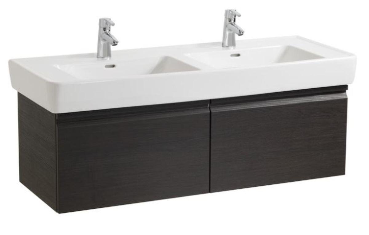 Kúpeľňová skrinka pod umývadlo Laufen Laufen Pro 122x45x39 cm wenge H4830810954231