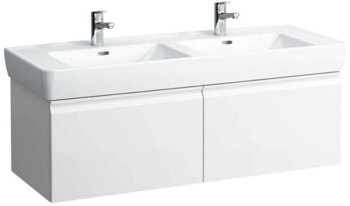 Kúpeľňová skrinka pod umývadlo Laufen Laufen Pro 122x45x39 cm biela H4830820954631