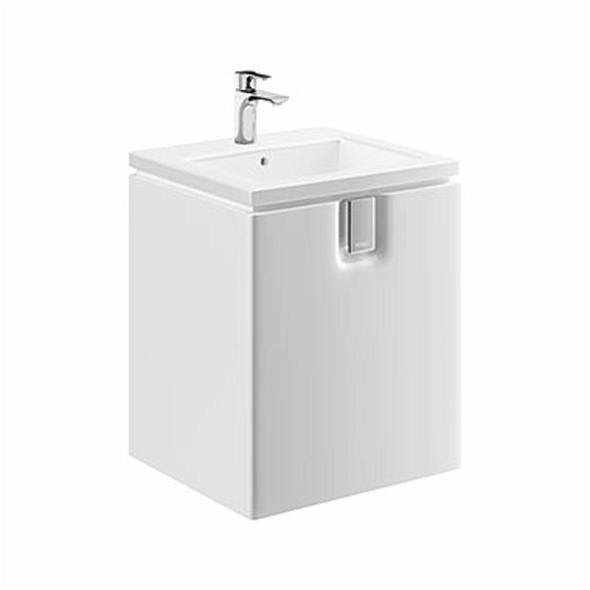 Kúpeľňová skrinka pod umývadlo KOLO Twins 50x57x46 cm biela lesk 89483000