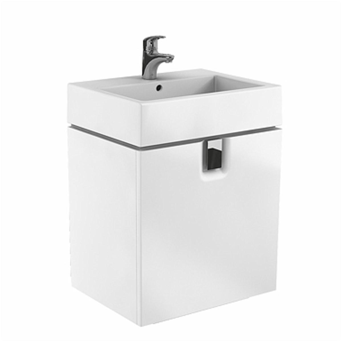 Kúpeľňová skrinka pod umývadlo KOLO Twins 60x57x46 cm biela lesk 89486000
